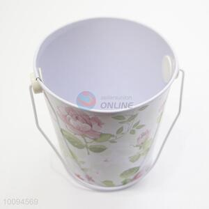New style flower mini tinplate bucket/garden bucket