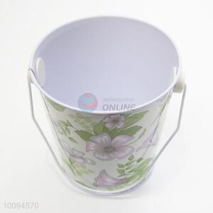 Fashion flower mini tinplate bucket/garden bucket