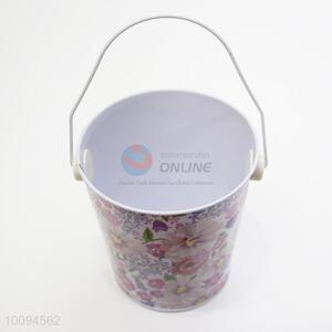 Wholesale flower mini tinplate bucket/garden bucket