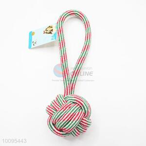 Pet Cotton Rope Toys with Tennis Ball Wholesale
