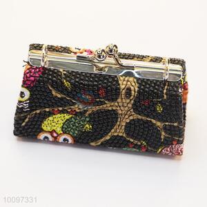Custom purse/clutch bag/lady bag with metal chain