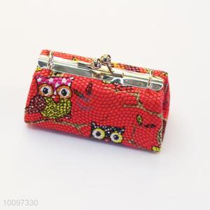 Red owl purse/clutch bag/lady bag with metal chain