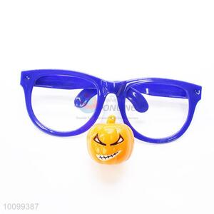 Blue Color Party Glasses Frame with Cartoon Naughty Pumpkin