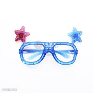 Blue Color LED Flash Funny Party Glasses with Star Decoration