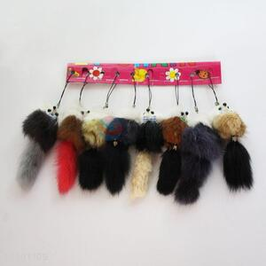 Popular Selling Lovely Wool-like Fur Key Mobile Phone Accessory