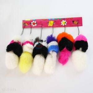 Animal Wool-like Fur Key Mobile Phone Accessory For Wholesale