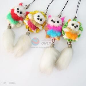 Cute Girls' Wool-like Fur Key Mobile Phone Accessory
