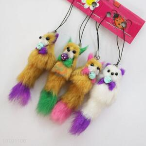 Soft Animal Fur Key Mobile Phone Accessory Wholesale
