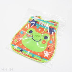 Green Cute Cartoon Frog Pattern Waterproof Baby Bibs