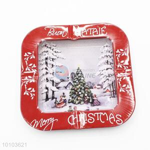 Wholesale red square style ashtray for christmas decoration
