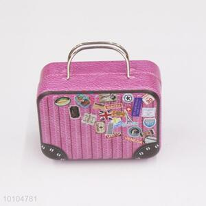 Pink kids playing tin box with handle/suitcase