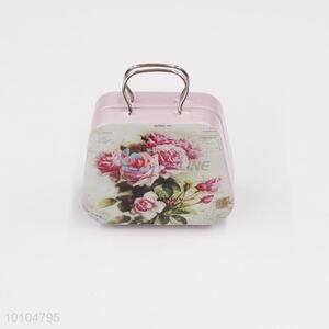 China supplier tin suitcase/mini tin box with handle/gift box