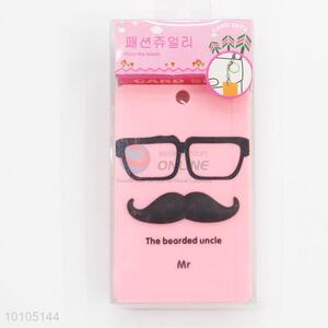 Funny cartoon uncle card sleeve with key chain