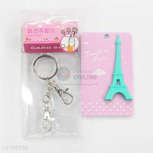 Eiffel Tower pink card sleeve with key chain