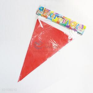 Red Color Pattern Eco-friendly Party Pennant