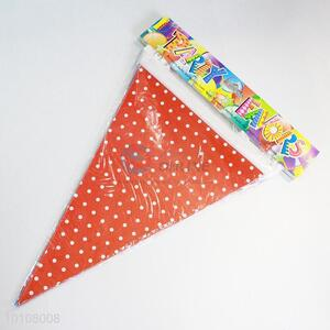 Cute Red Dots Pattern Eco-friendly Sky Blue Party Pennant