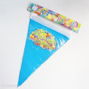 Blue Color Pattern Eco-friendly Sky Blue Party Pennant