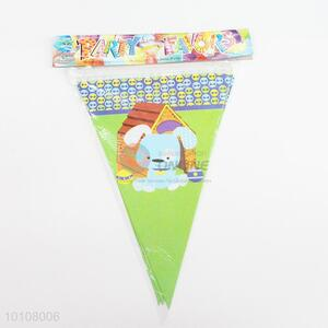 Cartoon Dog Pattern Eco-friendly Sky Blue Party Pennant