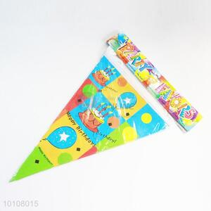 Colorful Birthday Cake Pattern Eco-friendly Party Pennant