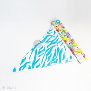 Blue Zebra-stripe Pattern Eco-friendly Party Pennant
