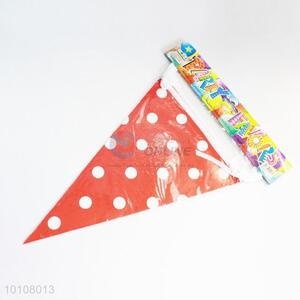 Red Dots Pattern Eco-friendly Party Pennant