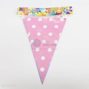 Pink Dots Pattern Eco-friendly Party Pennant