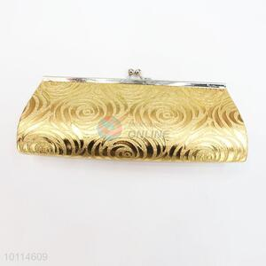 Elegant golden wedding evening clutch bag