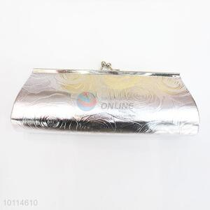 Silver Printed Clutch Bag for Evening Party