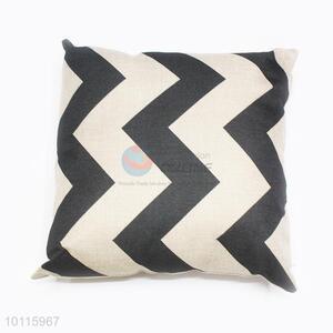 Striped Square Polyester <em>Pillow</em>