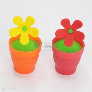 Pretty Cute Flower Pot Shaped Silicone Tea Filter Bag