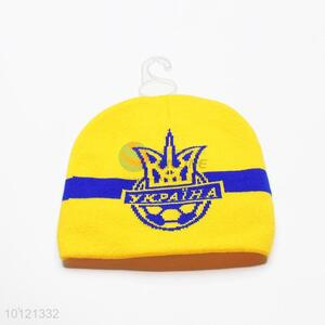 Yellow Ykpaiha-Ukraine Winter Pattern Knitting Beanie Hats
