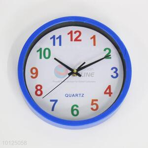 Colorized Number Round  Plastic Wall Clock