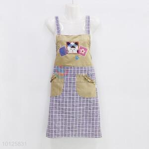 New Arrival Cotton Apron with Pockets Design