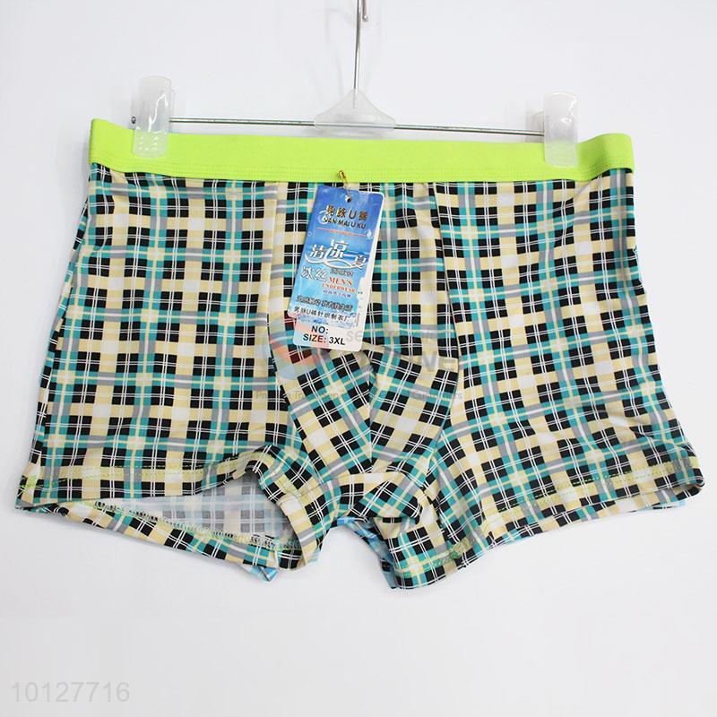 740132400 Checked Pattern Men Underwear Boxers Shorts - Sellersunion Online