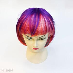 Colorful halloween/party/Christmas/make up short bob hair wig