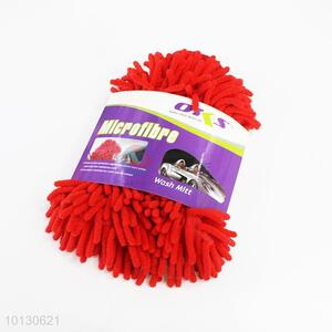 Wholesale red double-side car wash glove
