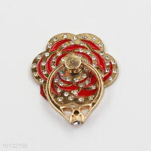Red Flower Shaped Phone Holder/Ring Holder