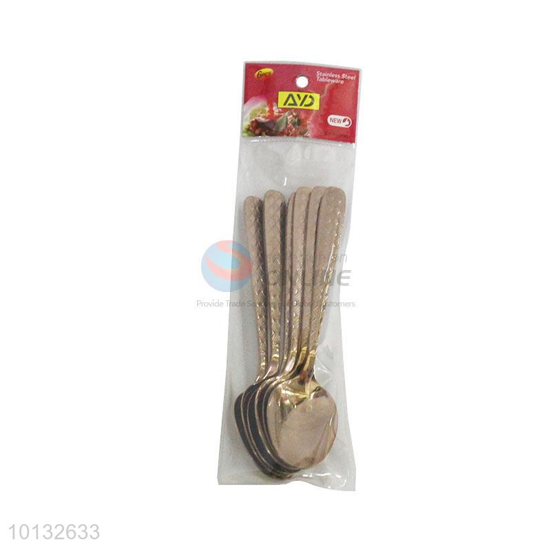 Made In China Stainless Steel Rose Gold-plating Tableware Spoon