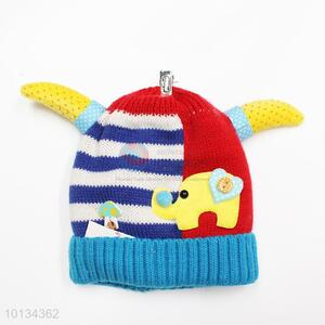 Ox horn elepant affixed cloth kids winter hats
