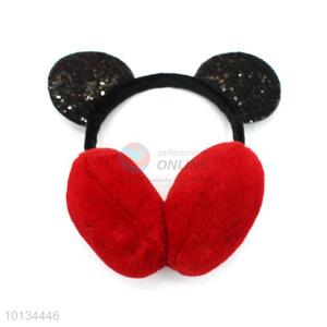 Red Winter Warm Earmuffs With Cartoon Headwear