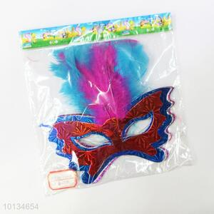 Half Face Party Mask Feather Masquerade Masks