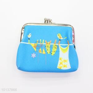 Blue Cute Pattern Fashion Women Coin Purses Cheap Mini Coin Bags