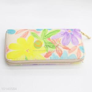 Colorful flower  pattern handbag/clutchbag/wallet/purse