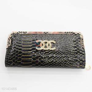 Wholesale black PU handbag/clutch/wallet for lady