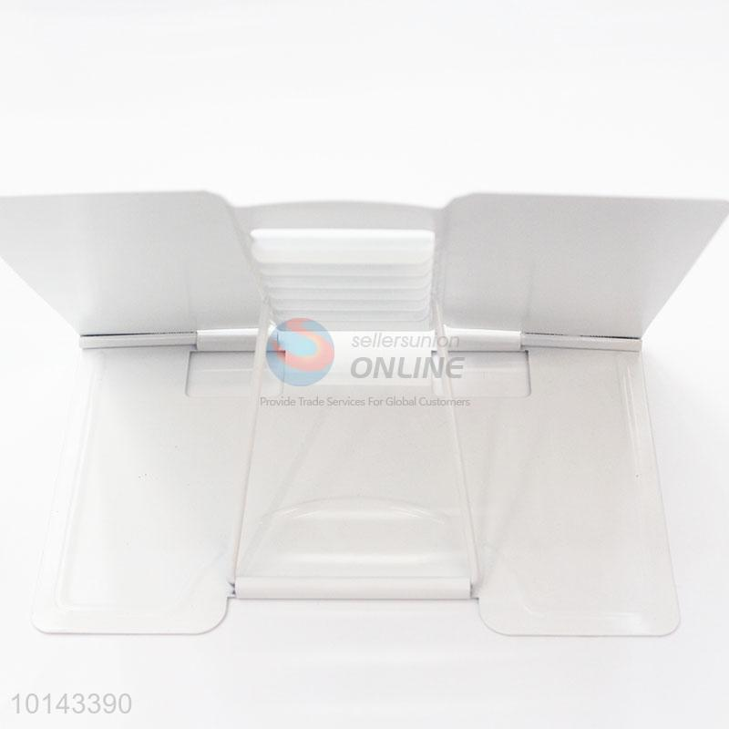White Piano Pattern Office Bookends Metal Stainless Steel Desktop Book  Holder Desk Stand For Books