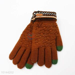 Top Quality  Winter Warm Knitted Gloves for Men