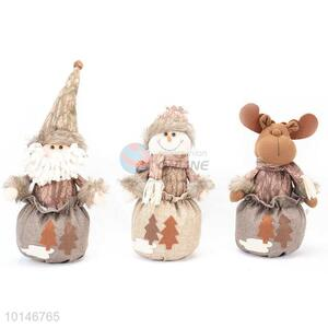 15 Inch Christmas Sitting Gift Bag Doll Ornament
