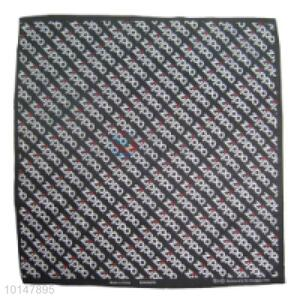 Cheap Black Cotton Handkerchief with Zippo Logo Patterns