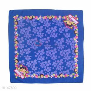 Cheap Blue Flowers and Dora Borderline Cotton Handkerchief