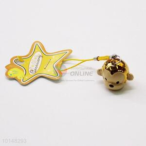 Gold Monkey Pendant Bell Mobile Phone Accessories Key Accessories Gift